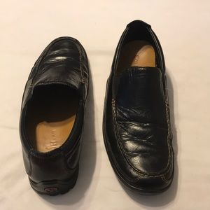 Cole Haan black leather driving loafers